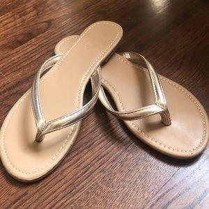 Rose gold sandals size 9 Women